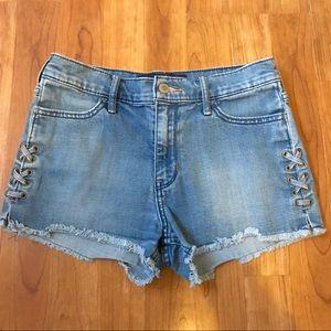 Hollister High Rise Denim Jean Shorts Sz 5/27